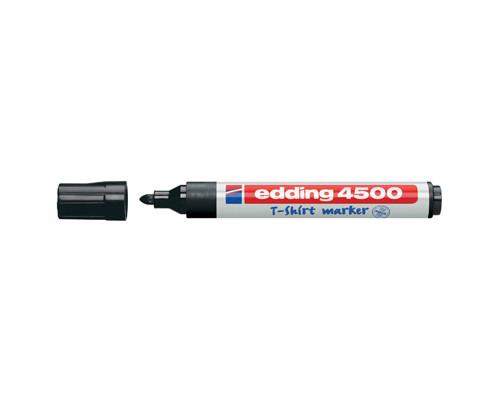 Маркер по ткани Edding E-4500-1 черный толщина линии 2-3 мм - (87143К)