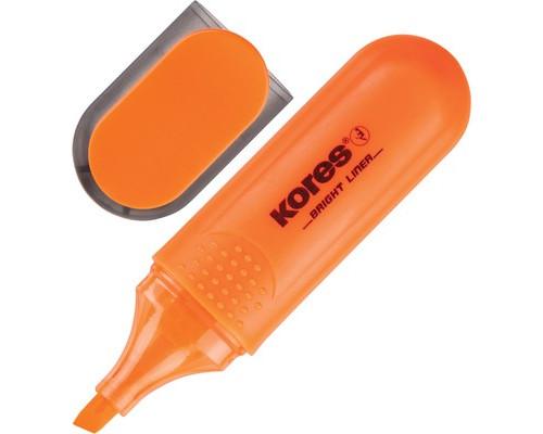 Текстовыделитель Kores оранжевый толщина линии 1-5 мм - (129241К)