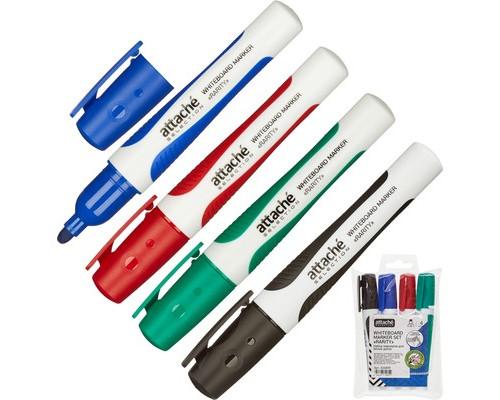 Набор маркеров для досок Attache Selection Rarity 4 цвета толщина линии 2-3 мм - (426899К)