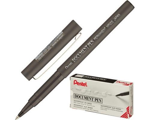 Роллер Pentel Document Pen черный толщина линии 0.25 мм - (216860К)