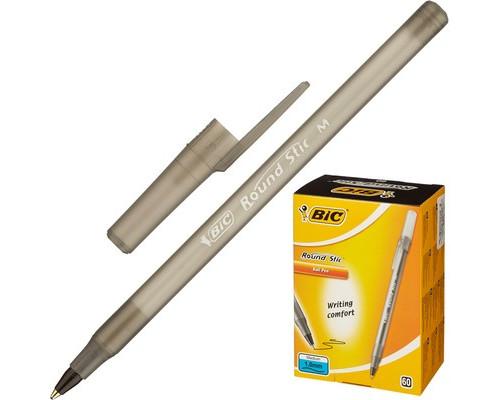 Ручка шариковая масляная BIC Round Stic черная толщина линии 0.4 мм - (440318К)
