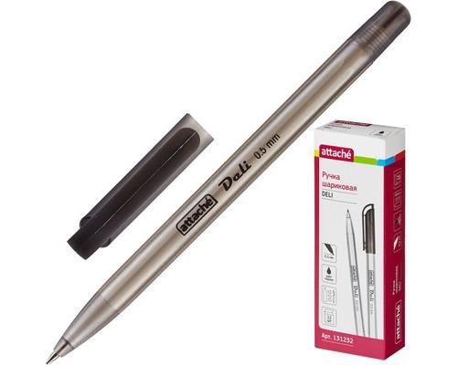 Ручка шариковая масляная Attache Deli черная толщина линии 0.5 мм - (131232К)