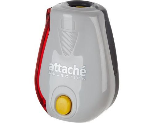 Точилка Attache Selection Twister с контейнером и индикатором заточки серая - (325556К)