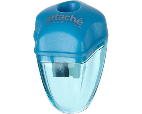 Точилка Attache Selection с контейнером голубая - (325551К)