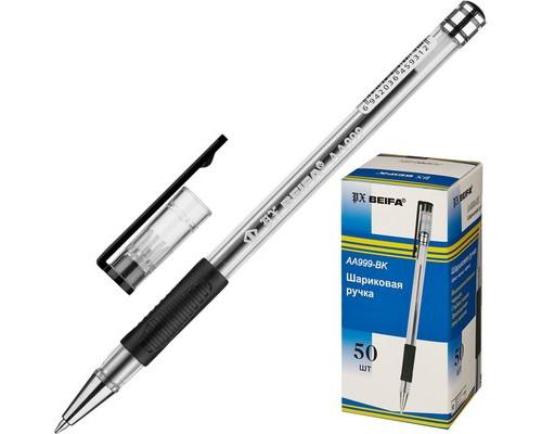 Ручка шариковая Beifa AA999 черная толщина линии 0.5 мм - (131253К)