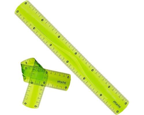 Линейка Attache Selection Flexible пластиковая супергибкая 30 см - (389384К)