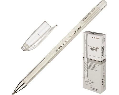 Ручка гелевая Crown белая толщина линии 0.7 мм - (505686К)