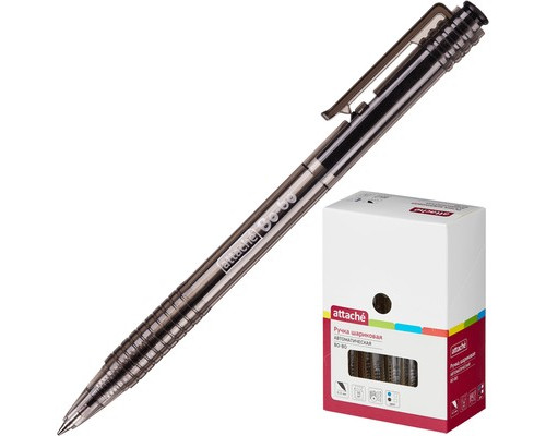 Ручка шариковая автоматическая Attache Bo-bo черная толщина линии 0.5 мм - (131234К)