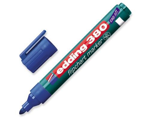 Маркер для флипчартов Edding E-380-3 cap off синий толщина линии 2.2 мм - (60780К)