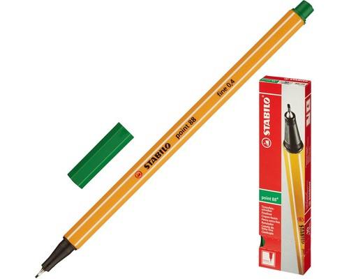 Линер Stabilo Point 88-41 зеленый толщина линии 0.4 мм - (78564К)
