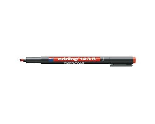 Маркер для пленок и глянцевых поверхностей Edding E-143-2 B красный толщина линии 1-3 мм - (537636К)