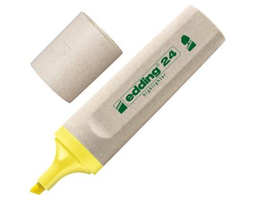 Текстовыделитель Edding Eco E-24-5 желтый толщина линии 1-5 мм - (204289К)