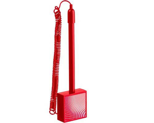 Ручка шариковая на липучке Attache Simple синяя для стены красный корпус толщина линии 0.5 мм - (490440К)