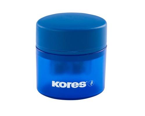 Точилка Kores двойная с контейнером в ассортименте - (212406К)