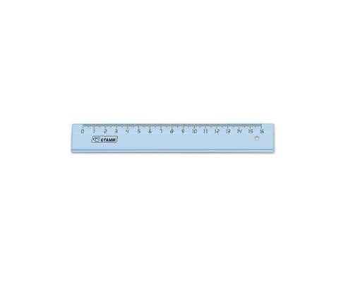 Линейка Стамм ЛН1000 16 см прозрачная - (614085К)