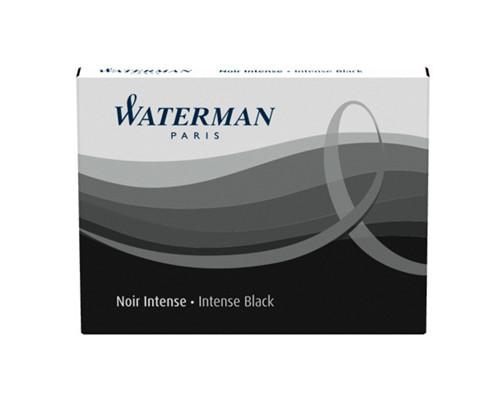 Картридж для перьевой ручки сменный Waterman Cartridge Size Standard черный 8 штук - (328784К)
