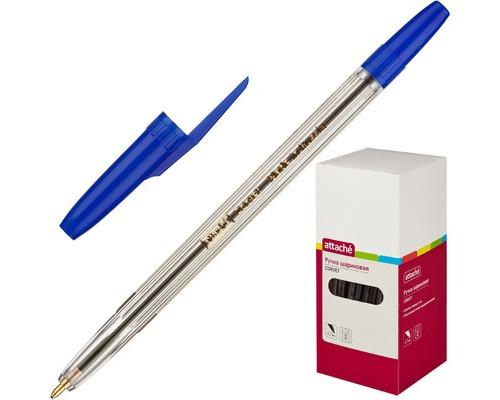 Ручка шариковая Attache Corvet синяя толщина линии 0.7 мм - (447473К)