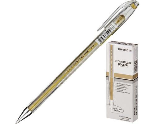 Ручка гелевая Crown золотистая толщина линии 0.7 мм - (505684К)