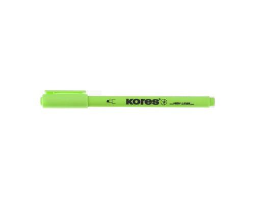 Текстовыделитель Kores зеленый толщина линии 0.5-3.5 мм - (400746К)