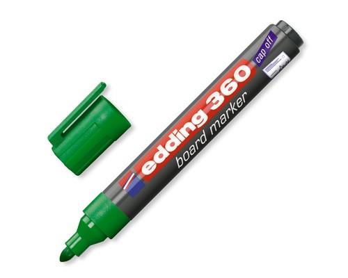 Маркер для досок Edding e-360-4 cap off зеленый толщина линии 1.5-3 мм - (31832К)