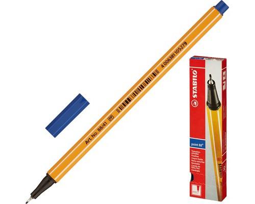 Линер Stabilo Point 88-41 синий толщина линии 0.4 мм - (78561К)