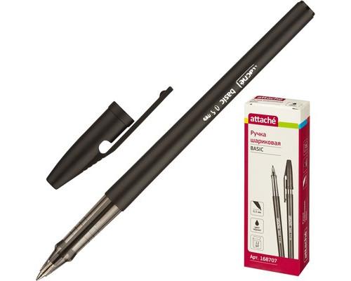 Ручка шариковая Attache Basic черная толщина линии 0.5 мм - (168707К)