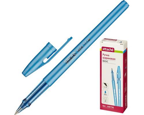 Ручка шариковая Attache Basic синяя толщина линии 0.5 мм - (168706К)