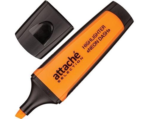 Текстовыделитель Attache Selection Neon Dash оранжевый толщина линии 1-5 мм - (427337К)