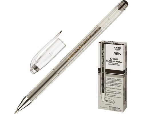 Ручка гелевая Crown HJR-500 черная толщина линии 0.5 мм - (218848К)