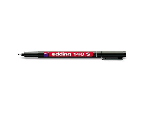 Маркер для пленок и глянцевых поверхностей Edding E-140 S черный толщина линии 0.3 мм - (43836К)