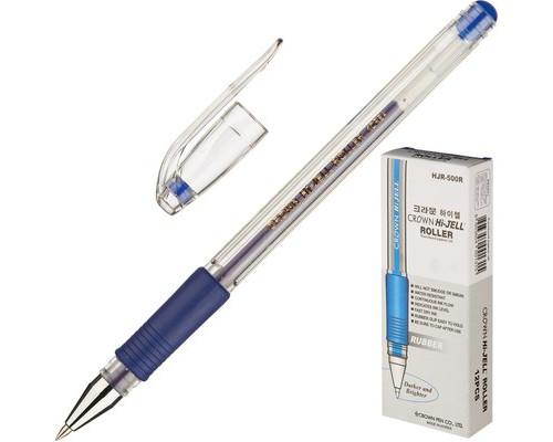 Ручка гелевая Crown HJR-500R синяя толщина линии 0.5 мм - (218849К)