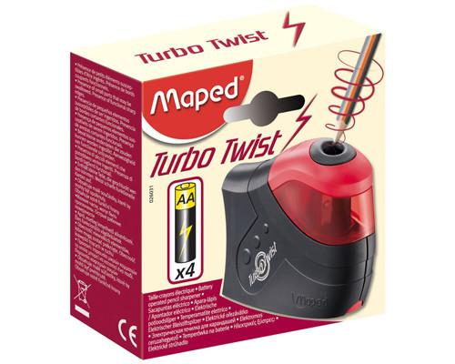 Электрическая точилка Maped Turbo Twist 1 отверстие с контейнером - (263535К)