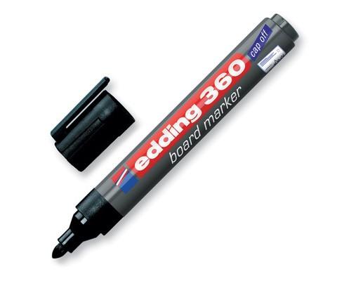 Маркер для досок Edding e-360-1 cap off черный толщина линии 1.5-3 мм - (31829К)