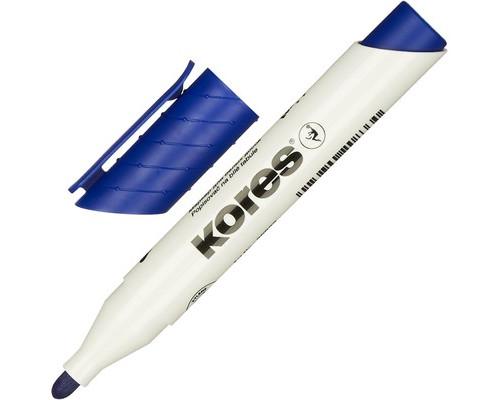 Маркер для досок Kores 20833 синий толщина линии 3 мм - (204453К)