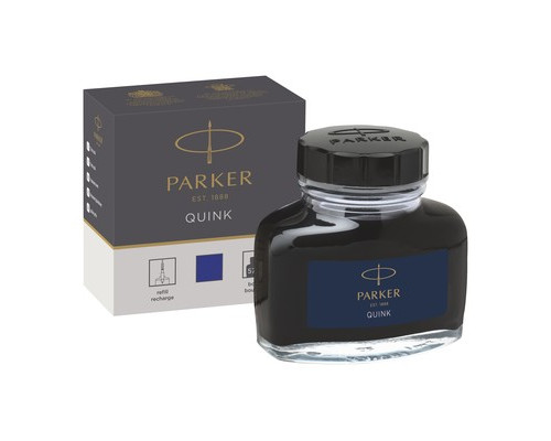 Чернила Parker Quink синие 57 мл в стеклянном флаконе - (691262К)