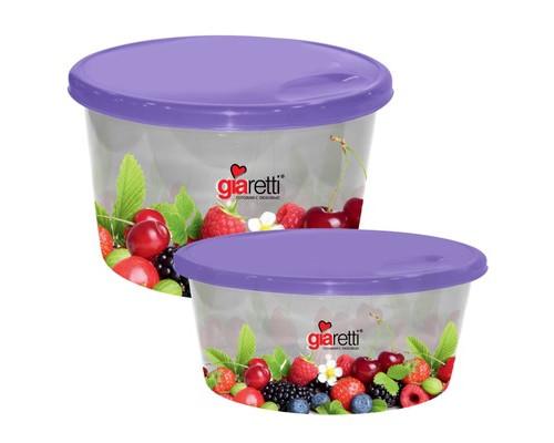 Набор контейнеров для продуктов Plastic Republic Браво пластиковые круглые 2 штуки - (605807К)