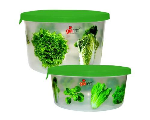 Набор контейнеров для продуктов Plastic Republic Браво пластиковые круглые 2 штуки - (615574К)