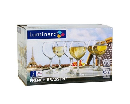 Набор фужеров для вина Luminarc Французский ресторанчик стекло 210 мл 6 штук в упаковке - (558183К)
