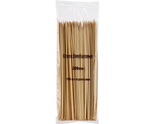 Набор шампуров бамбуковых длина 20 см 100 штук в упаковке - (463408К)