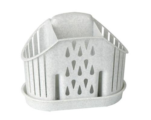 Сушилка для столовых приборов трехсекционная пластиковая Idea 195x115 мм серая - (220025К)