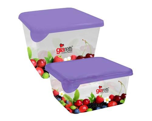 Набор контейнеров для продуктов Plastic Republic Браво пластиковые квадратные 2 штуки - (605808К)