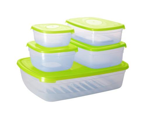 Набор контейнеров для СВЧ Plastic Republic Galaxy пластиковые с крышкой 5 штук - (605817К)