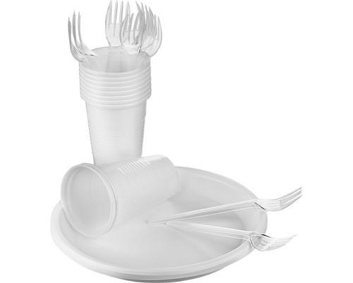 Набор одноразовой посуды SHL Столовый на 10 персон - (456638К)