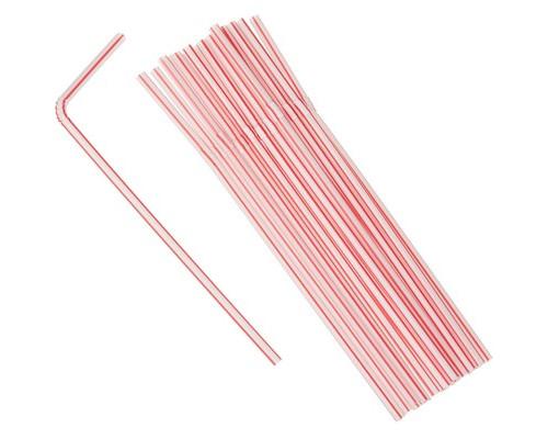 Трубочки для коктейлей Мистерия в полоску длина 21 см 100 штук в упаковке - (429325К)