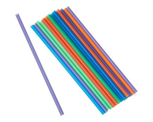 Трубочки для коктейлей Горница цветные длина 24 см 250 штук в упаковке - (627228К)