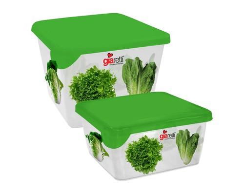 Набор контейнеров для продуктов Plastic Republic Браво пластиковые квадратные 2 штуки - (615575К)