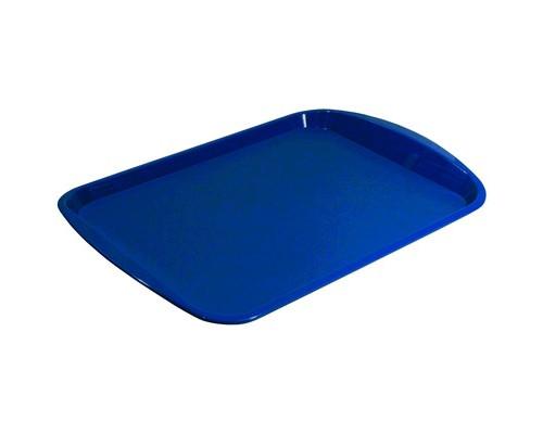Поднос прямоугольный пластиковый Polar 470х330 мм синий - (334102К)