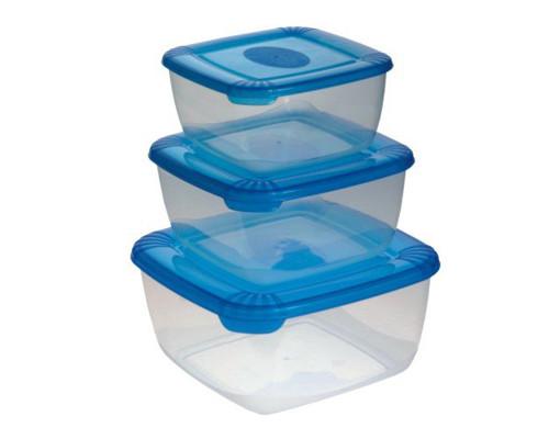Набор контейнеров для СВЧ Polar пластиковые квадратные - (275148К)