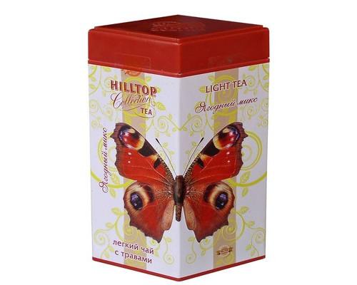 Чай Hilltop Бабочка -ягодный микс100гр с ягодами