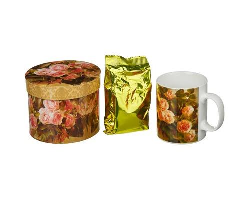 Чай С335 ABIGAIL зеленый сенча в кружке Розовые розы 50г